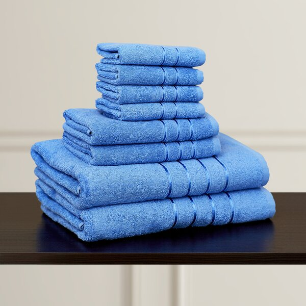 Plush 8 Piece 100% Cotton Towel Set by The Twillery Co.